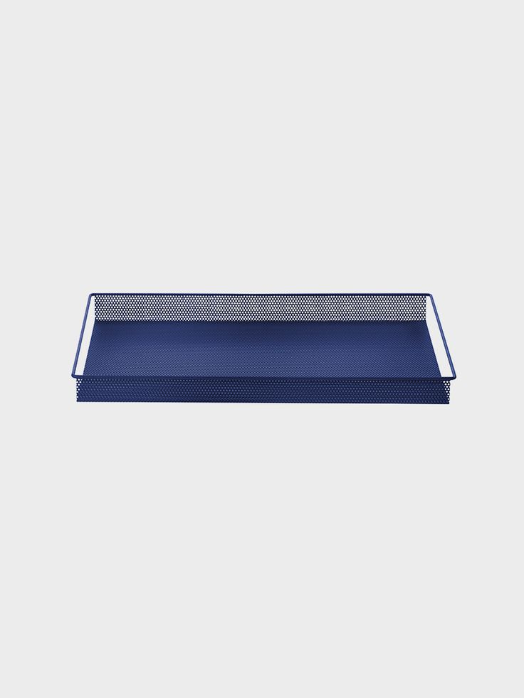 Designer metal trays by ferm LIVING in colours for you to mix and match – note that the small tray even fits into the big tray! See more online.