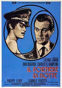 The Night Porter Italian promotional poster // Directed by Liliana Cavani Produced by Robert Gordon Edwards Esa De Simone Written by Liliana Cavani Starring Dirk Bogarde Charlotte Rampling Philippe Leroy Gabriele Ferzetti Isa Miranda Music by Daniele Paris Cinematography Alfio Contini Distributed by The Criterion Collection Release date(s) France: 3 April 1974 United States: 1 October 1974 Running time 118 minutes Country Italy Language English Italian