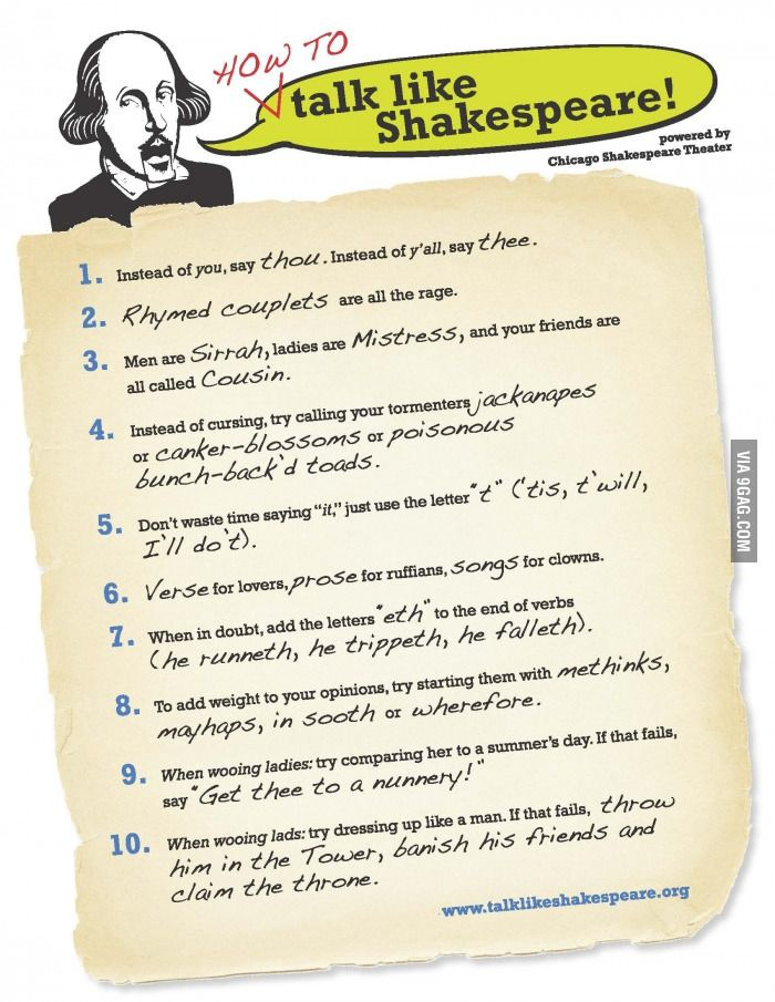 how to write a letter in shakespearean language