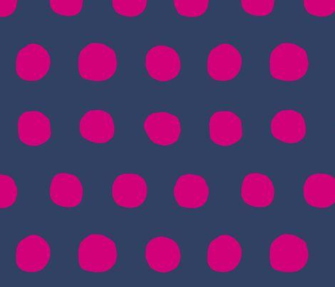 polka dots navy and fuschia