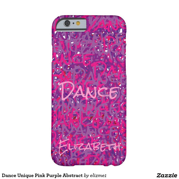 Dance Unique Pink Purple Abstract Barely There iPhone 6 Case available for most models of  iPhone and Samsung phones