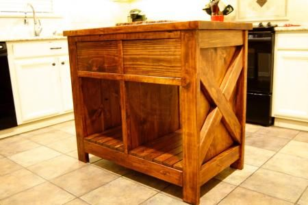 Modified Rustic X Kitchen Island Do It Yourself Home