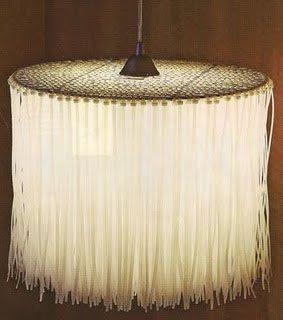 20 best images about homemade lightfittings on pinterest for Doily light fixture