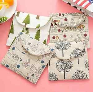 2Pcs Women Girl Cute Sanitary Napkin Towel Pads Small Bag Purse Holder Organizer | eBay
