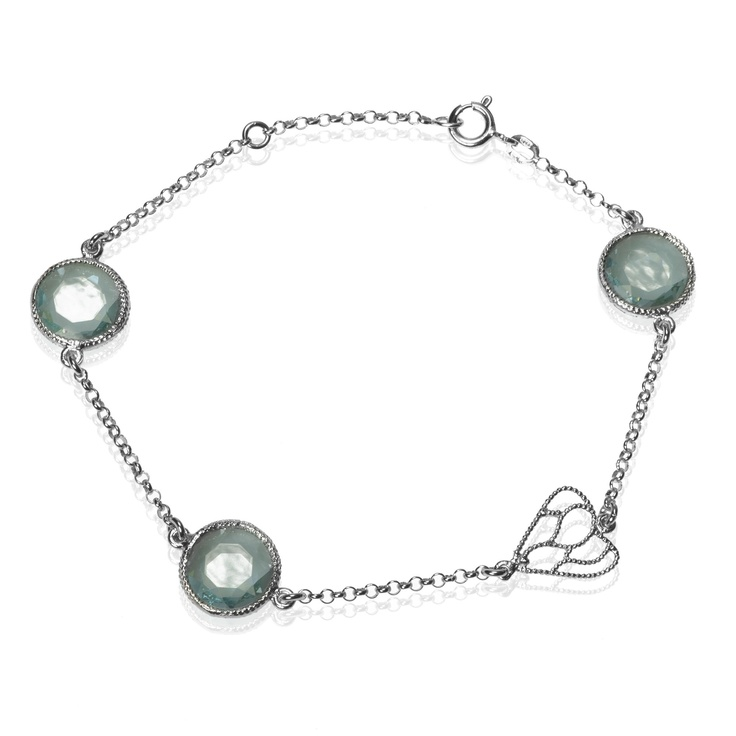 The Valencian 925 silver bracelet with crystals and heart pierced - QVC Italy