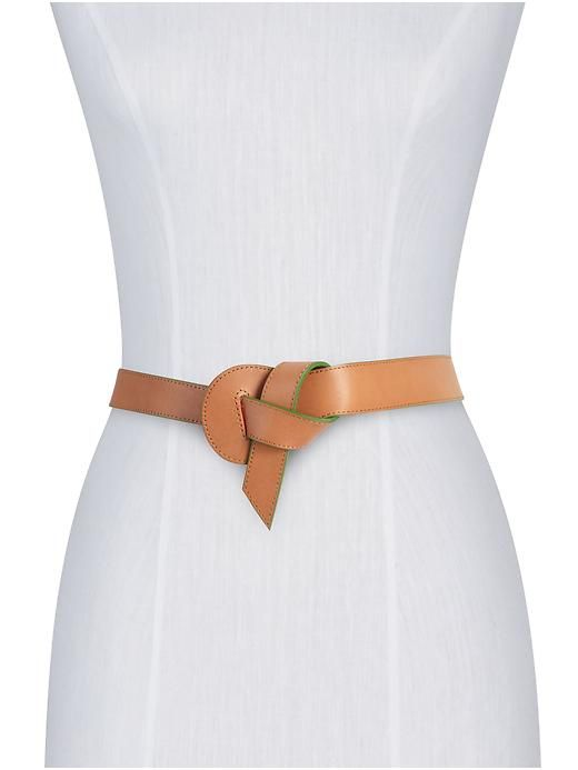 A simple neutral belt that can be worn as business or casual. (Jeans, a navy suit, a pair of white summer shorts, and more!)