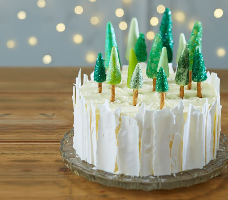 Bring some magic to the Christmas table and impress your guests with this easy to make ice forest Christmas cake.