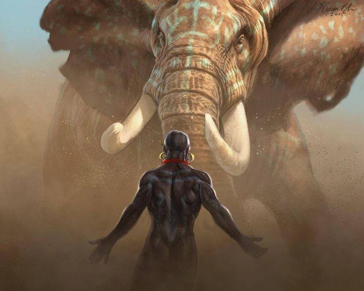 """Nubian Warriors"" by Aaron Blaise"