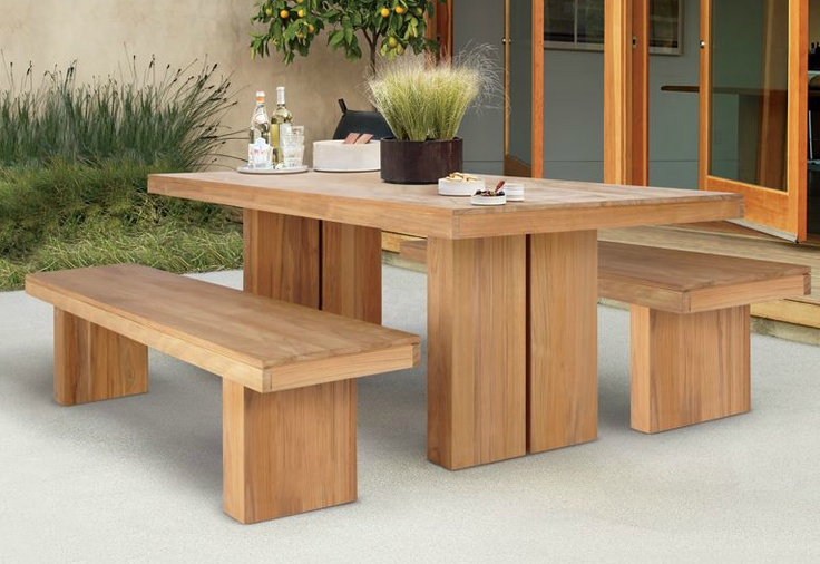 Outdoor table http://www.dwr.com/product/kayu-teak-
