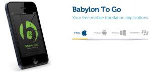 Babylon yo go es una app que puede favorecer mucho en la redacción. Cuenta con dos funciones: Text y Term. Text te brinda la traducción en el idioma que se elija y Term brinda significados de las palaras buscadas.