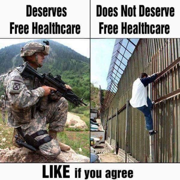Our Military HEROES deserve the best our country has to offer, illegal immigrants deserve jail. Keyword, illegal!