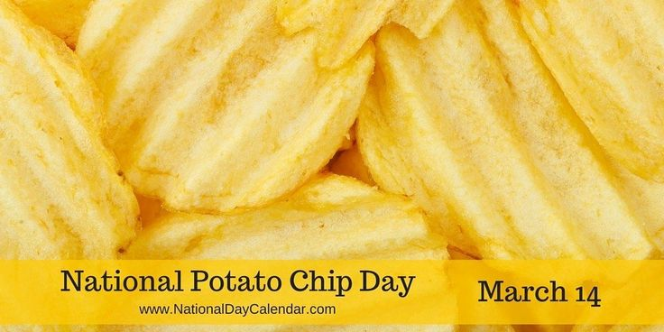 NATIONAL POTATO CHIP DAY America's #1 snack food is recognizedeach year on March 14th. On National Potato Chip Day, this snackwill be enjoyed by millions of people across the country. Following …