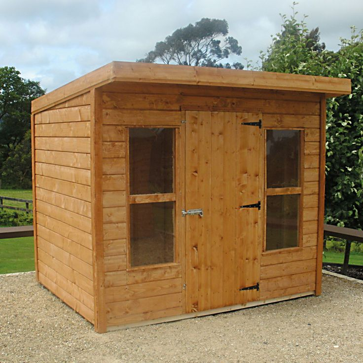 Garden Shed T&G Lean To Golden Brown