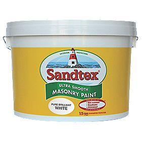 Sandtex Ultra Smooth Masonry Paint Pure Brilliant White 10Ltr