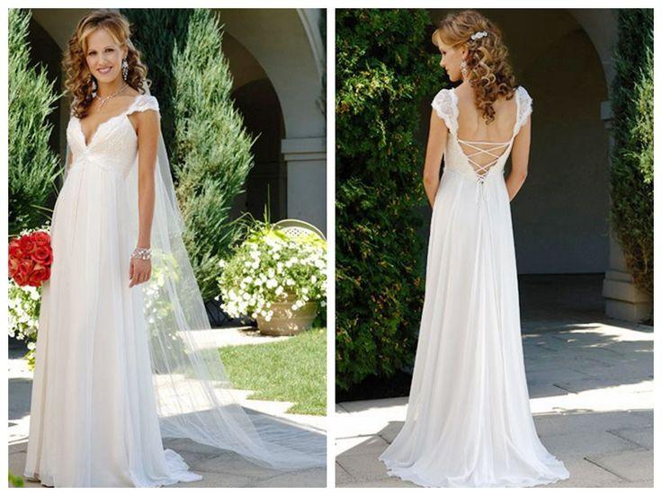 2014 V-NECK LACING STRAPS HOT SALE CHEAP CUSTOMER-MADE DESIGN WEDDING DRESS