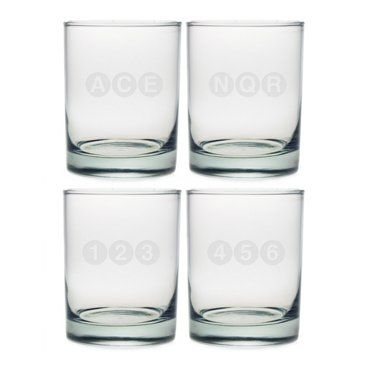 Check out this item at One Kings Lane! S/4 Assorted NYC Subway Tumblers