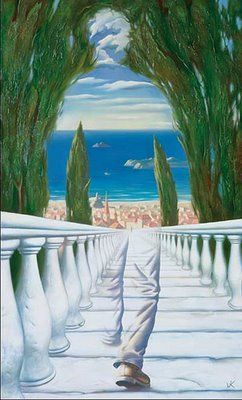 """Descent to the Mediterranean"" by Vladimir Kush"