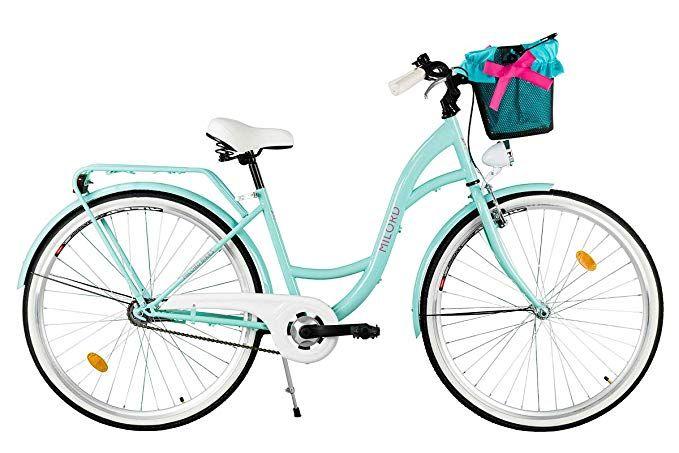 Milord 2018 Komfort Fahrrad Mit Korb Hollandrad Damenfahrrad 1 Gang Aqua Blau 26 Zoll Amazon De Sport Freizeit Damenfahrrad Fahrrad Hollandrad