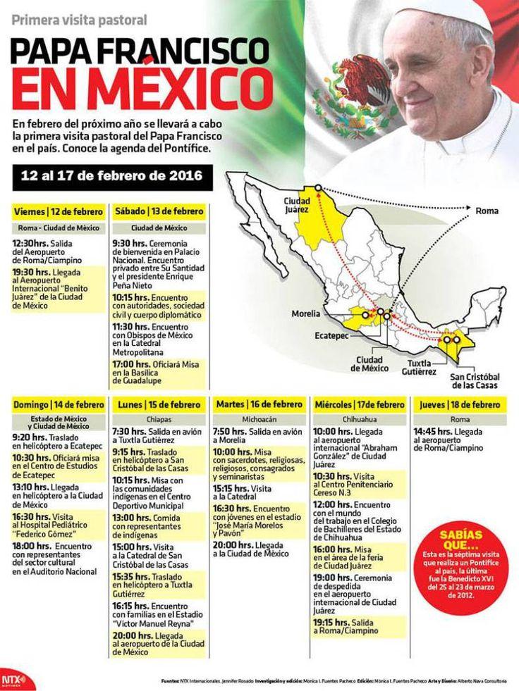 20151220 Infografia Papa Francisco En Mexico @Candidman