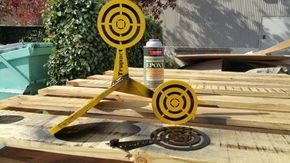 These shooting targets roll over when shot Super by Trupart