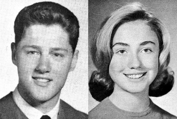 CELEBRITY YEARBOOK - Bill Clinton & Hillary Rodham Clinton