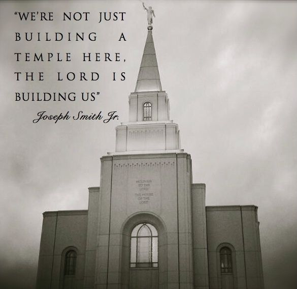 """Temples http://facebook.com/163927770338391 are more than stone and mortar. They are filled with faith and fasting. They are built of trials and testimonies. They are sanctified by sacrifice and service."" –Thomas S. Monson http://pinterest.com/pin/24066179228814793 from his http://facebook.com/223271487682878 message ""The Holy Temple–A Beacon to the World"" http://lds.org/general-conference/2011/04/the-holy-temple-a-beacon-to-the-world"