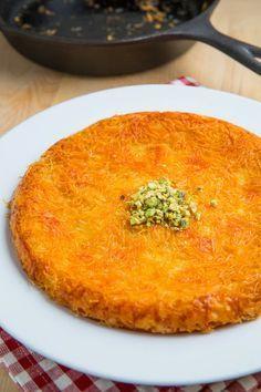 Kanafeh/Künefe (Sweet Cheese Pastry)