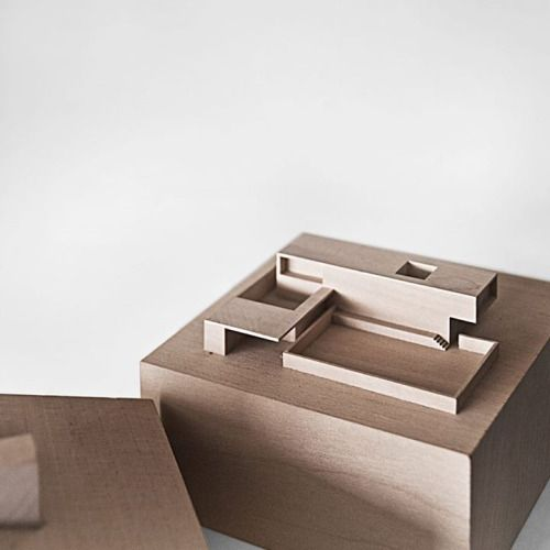 Frick House Scale Model, Röthis Marte Marte Architects 1997