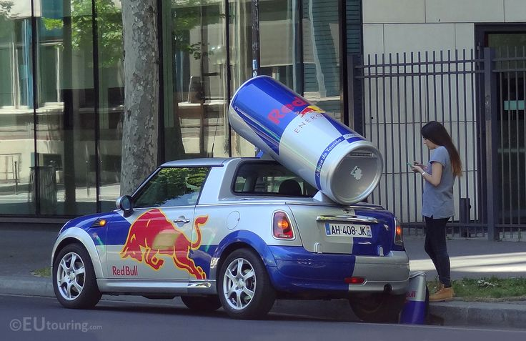 For something completely different - a Red Bull promotional car found while on the streets of Paris!  See more Paris Photos at www.eutouring.com/images_paris_city_life.html