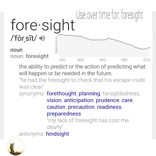 #shadowordoftheday  #Foresight #predict #future #forethought #planning #farsightedness #vision #anticipation #prudence #care #caution #precaution #readiness #preparedness #foresightfriday