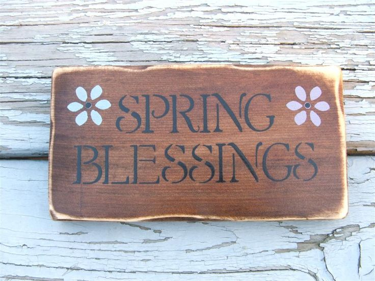 Spring Blessings Wooden Sign
