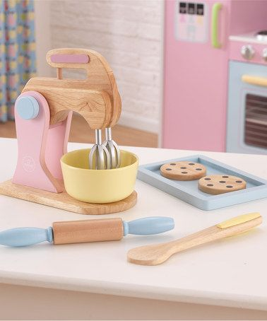{Wood Baking Set} This would go great with all of our Melissa & Doug wood food. So cute.