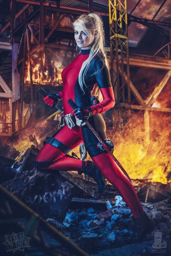 Les plus beaux cosplays de super-héroïnes Marvel - Lady Deadpool (Ellei Marie)
