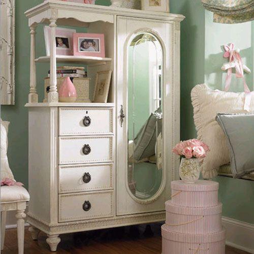 shabby chic dresser: Idea, Doors Chest, Emma Treasure, Girls Bedrooms, Shabby Chic, Cabinets, Little Girls Rooms, Furniture, Mirror Doors