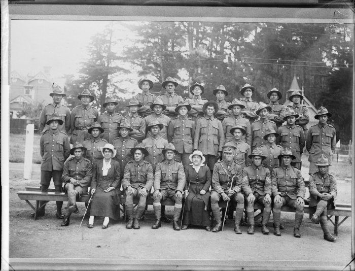 Maori Pioneer Battalion WW1 - Wanganui & west Coast platoons. ca 1917
