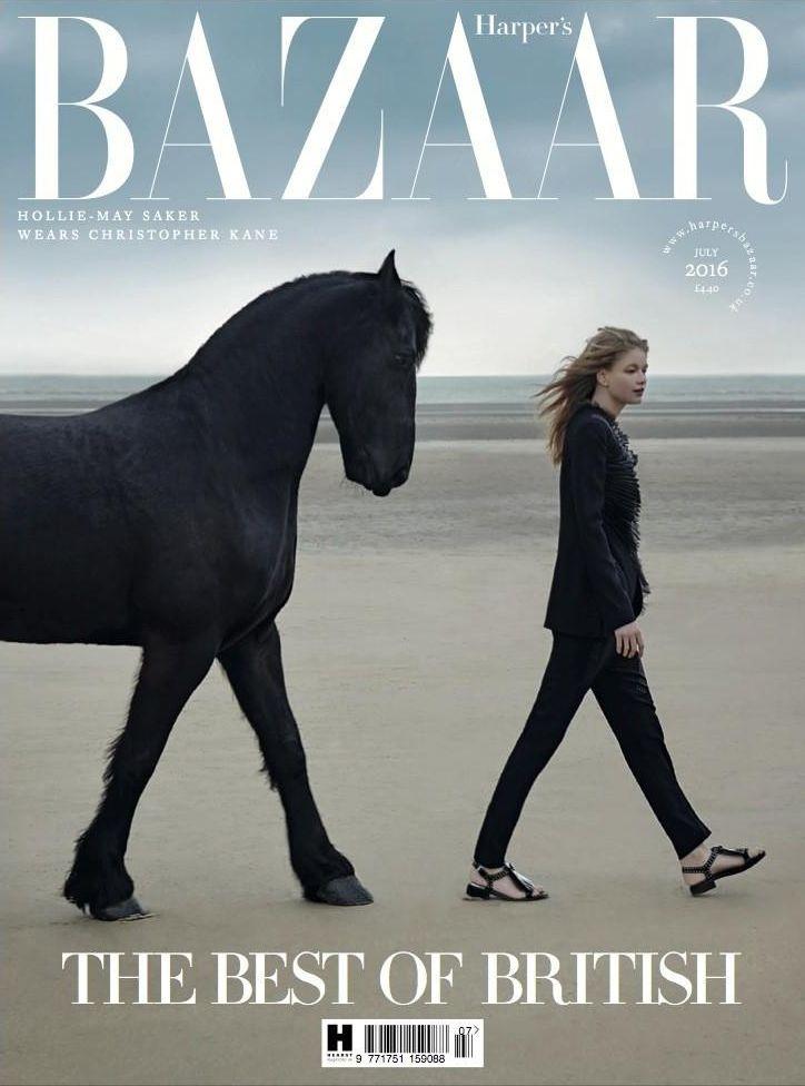 Hollie May Saker by Agata Pospieszynska for Harper's Bazaar UK, July 2016.