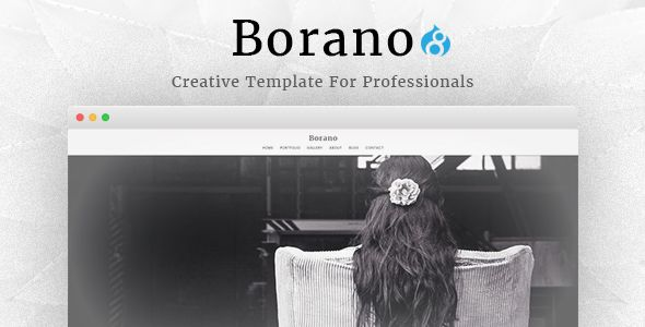 Borano - Photography / Portfolio Drupal 8 Theme CMS Themes / Drupal / Creative / Portfolio by drupalet