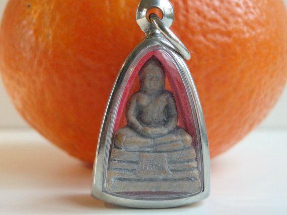Holy Thai Buddha Clay Mold Amulet by LeFuCycliste on Etsy