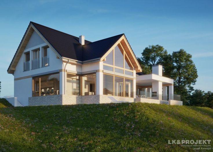 Projekty domów LK&Projekt LK&1313 wizualizacja 4