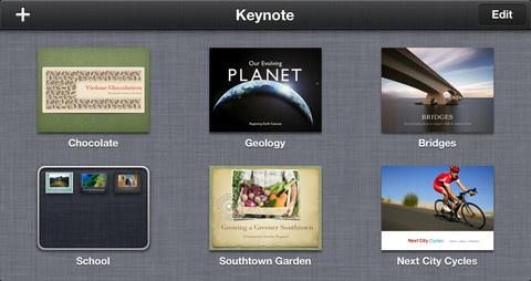 keynote - 9.99 - slideshow presentations