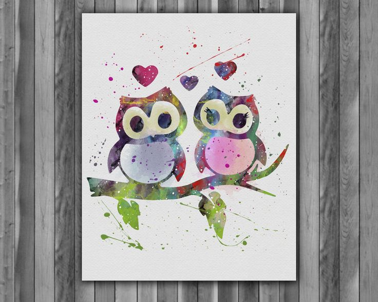 Children's Room Decor – Owl children room Nursery poster – a unique product by Irene913 on DaWanda
