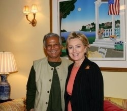 "I have a tremendous admiration for Professor Yunus, ""the banker of the poor"". Actually he is on my list of heroes along with Dr.Paul Farmer.    Dr...."