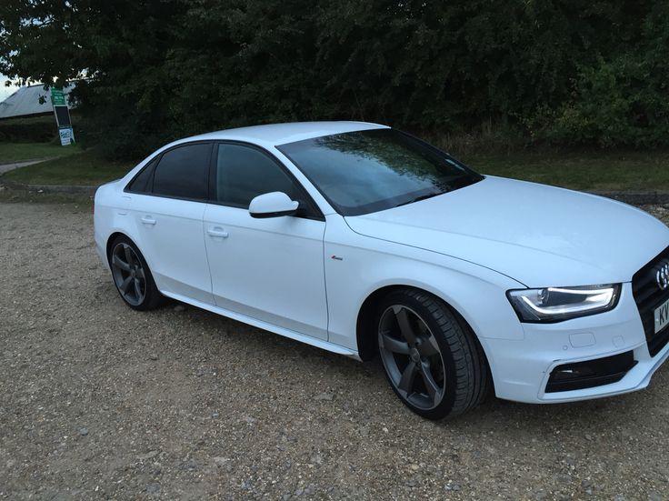 Audi A4 sline White, black edition http//www