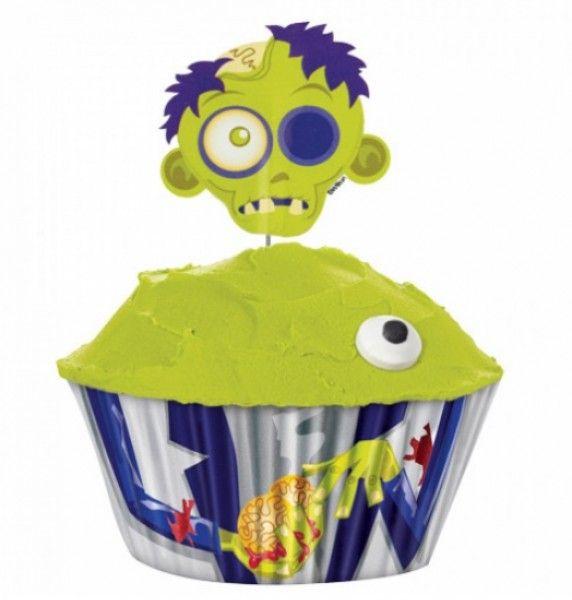 zombie auf gehts zur halloween cupcake parade schaut mal in unseren shop mit wilton cupcakeshalloween cupcakescupcakes decoratinghalloween
