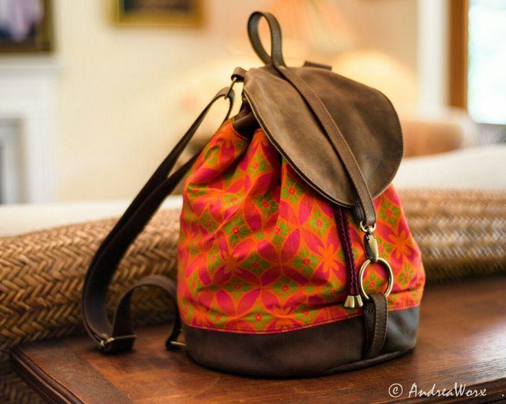 AndreaWorx handmade unique leather and shwe shwe Boho backpack