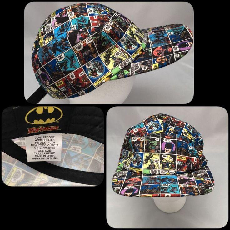 Concept One Accessories Batman Robin Comic Strip Baseball Cap Adjustable Size    eBay