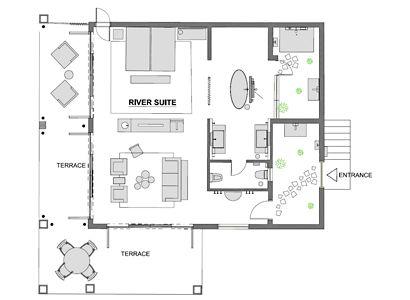 River suite's plan