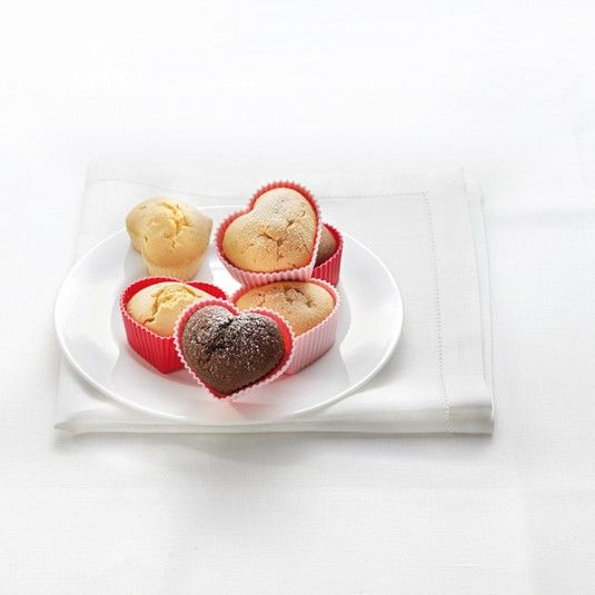 Foremki do muffinów i deserów SERCA - 4 szt. #bakeshop #cookie #love #heart #baking