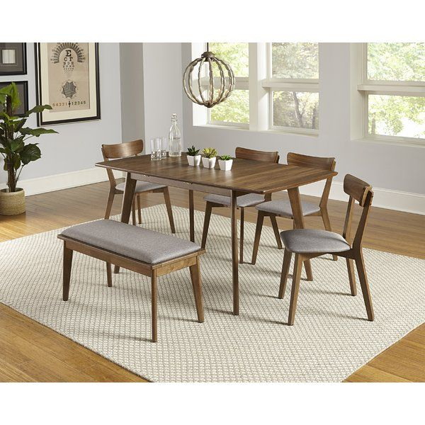 Rockaway 6 Piece Extendable Solid Wood Dining Set Solid Wood