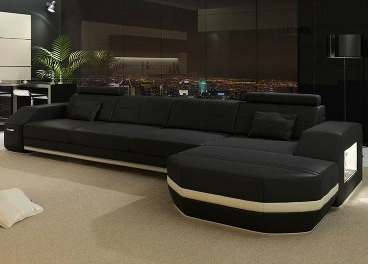 Black Sectional Couches. Monroe Modern Leather Sectional Sofa Tosh  Furniture Tos Fy910 Lt